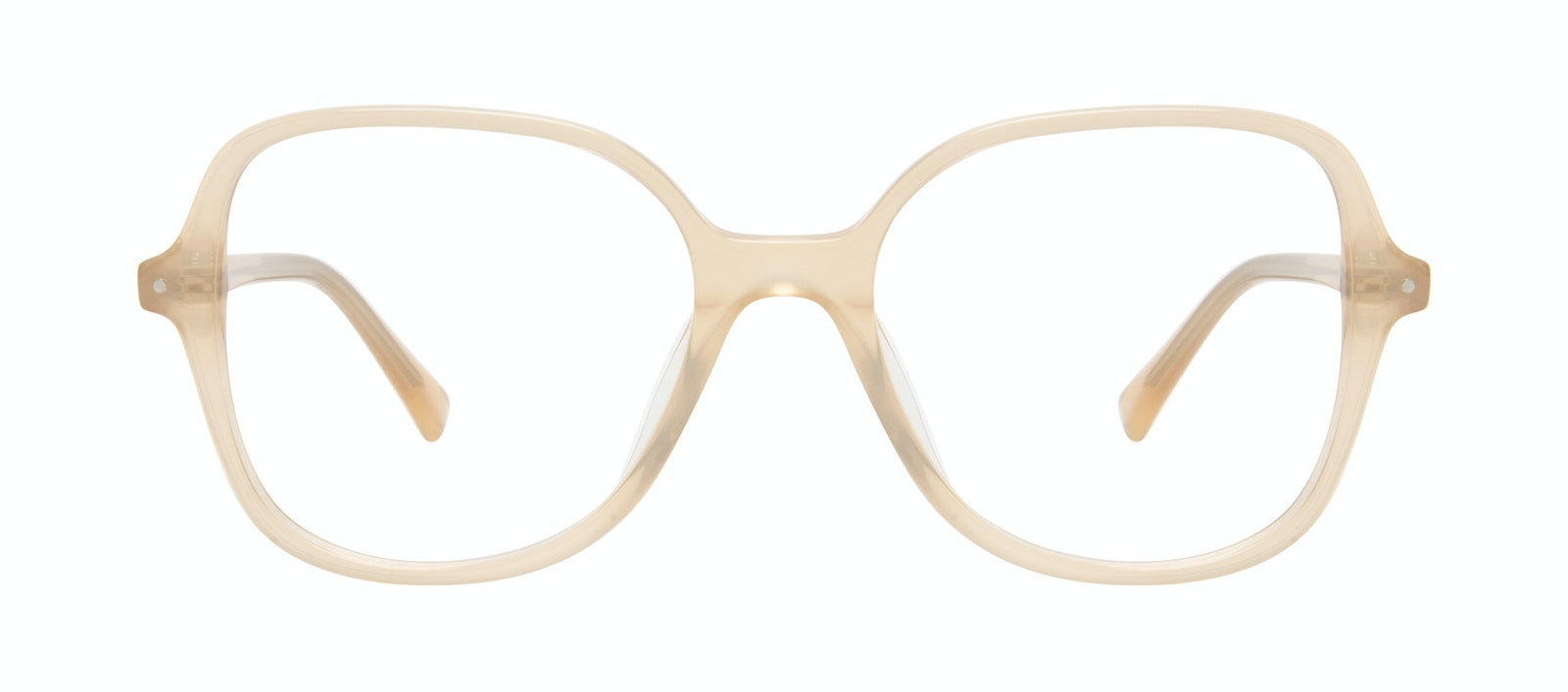 Affordable Fashion Glasses Square Eyeglasses Women Scene Peach Front