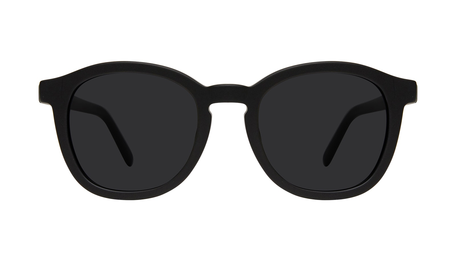 Affordable Fashion Glasses Round Sunglasses Men Script Matte Black