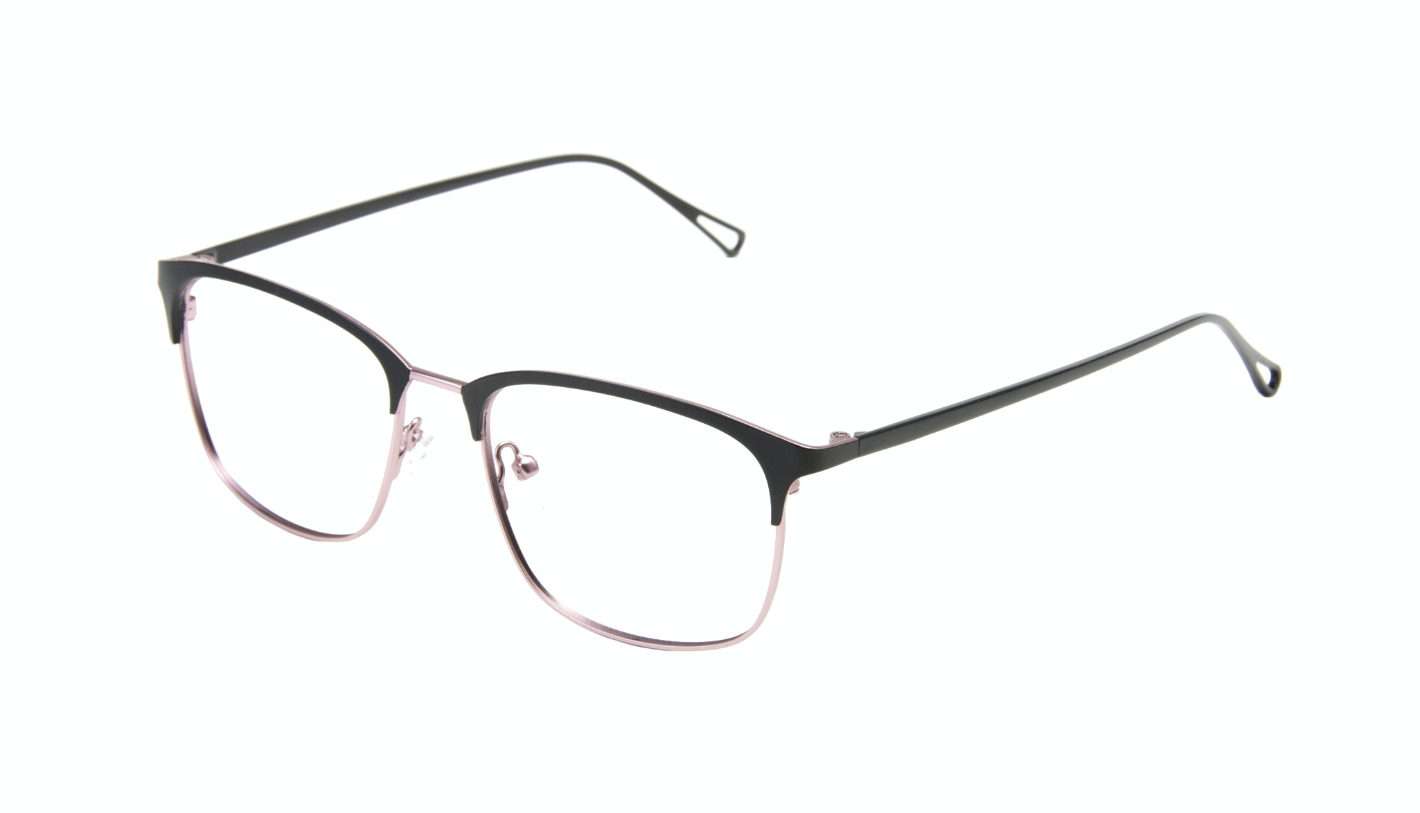Affordable Fashion Glasses Rectangle Eyeglasses Women Seaside Deep Silver Tilt