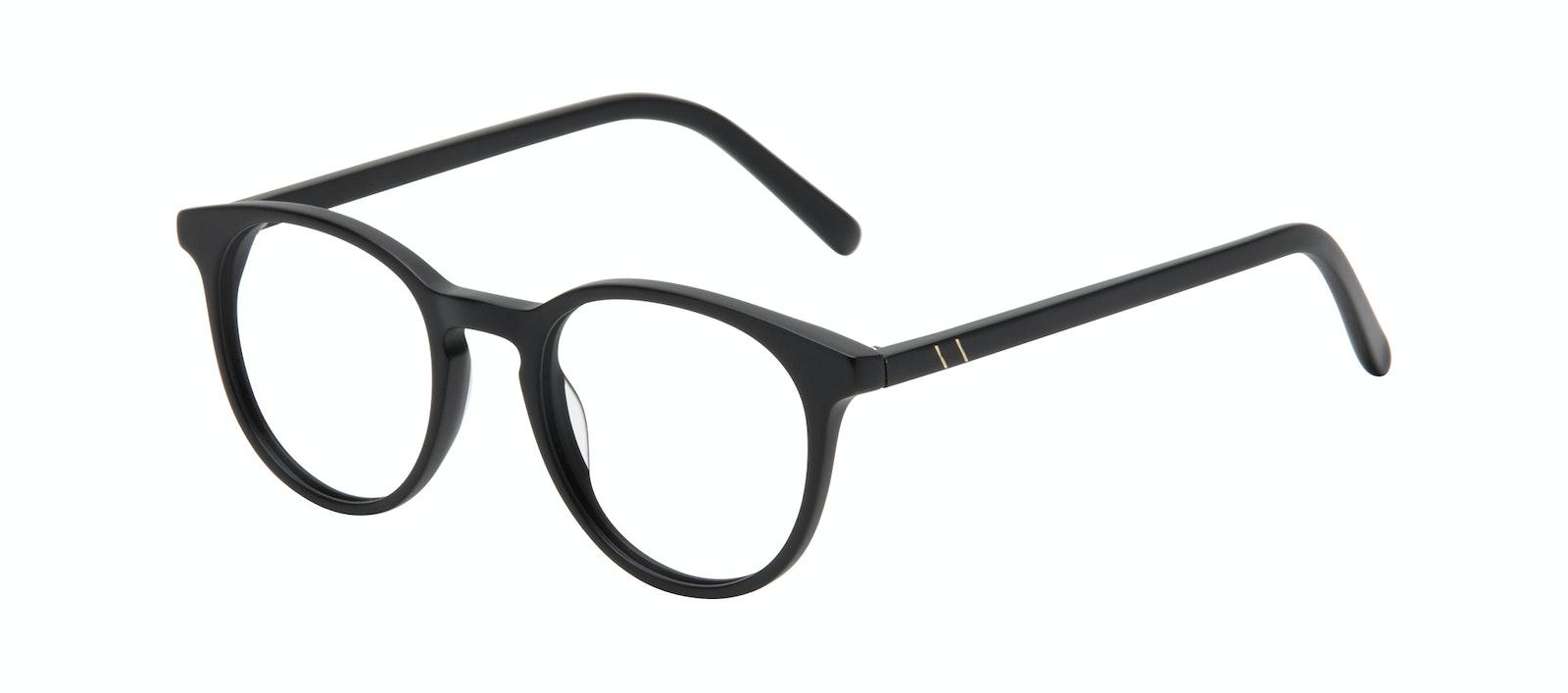 Affordable Fashion Glasses Round Eyeglasses Men Select Black Matte Tilt