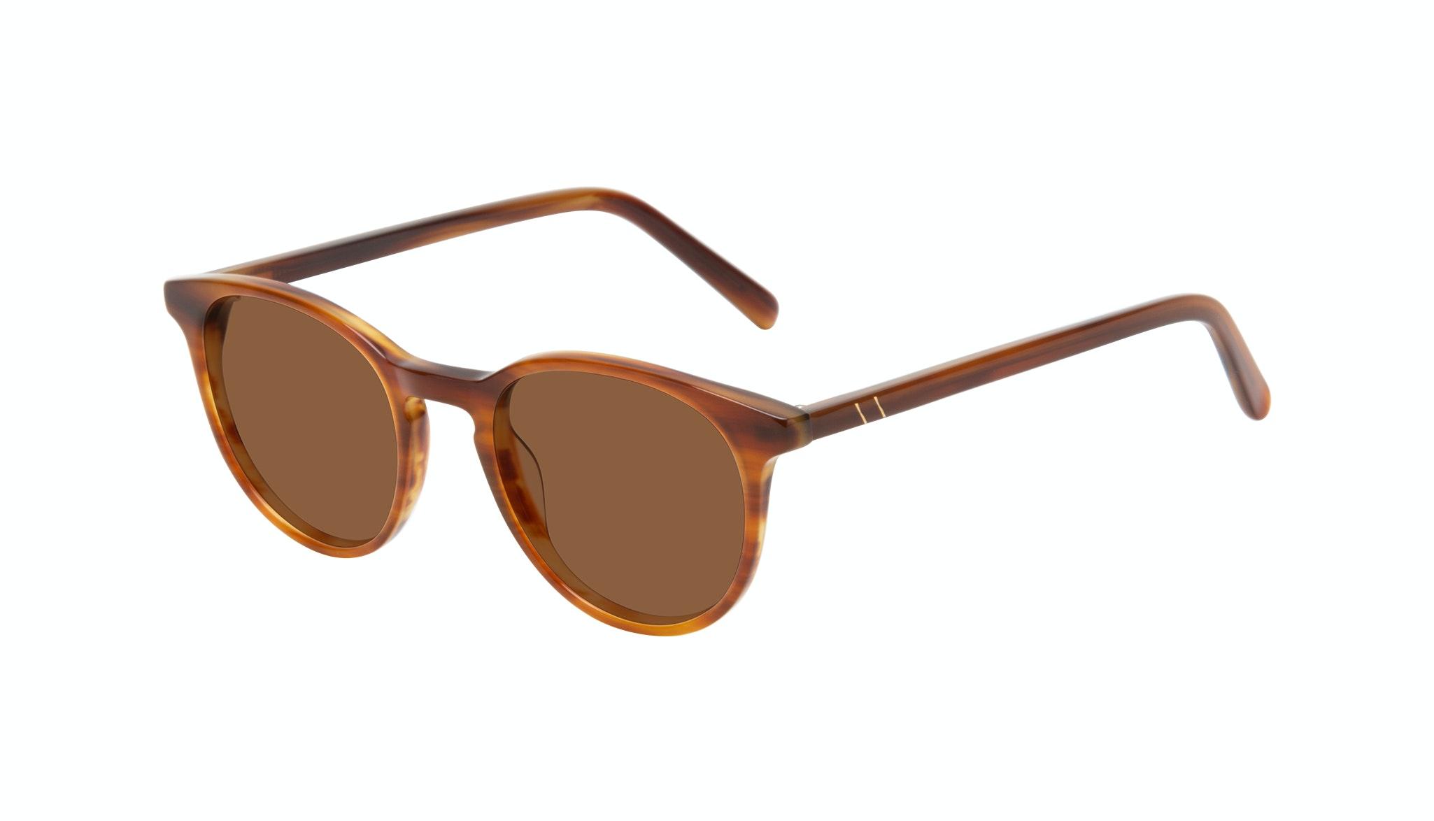 Affordable Fashion Glasses Round Sunglasses Men Select Havana Tilt