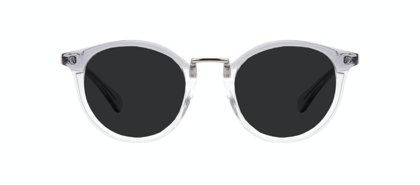 Affordable Fashion Glasses Round Sunglasses Women Self Grey Front