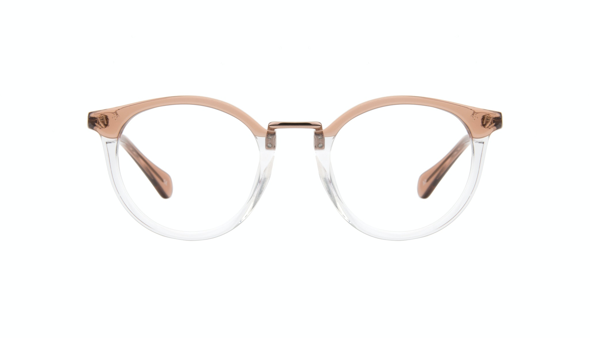 Affordable Fashion Glasses Round Eyeglasses Women Self Rose