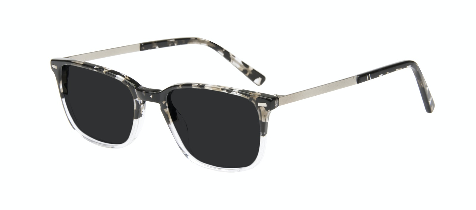 Affordable Fashion Glasses Rectangle Sunglasses Men Sharp Clear Stone Tilt