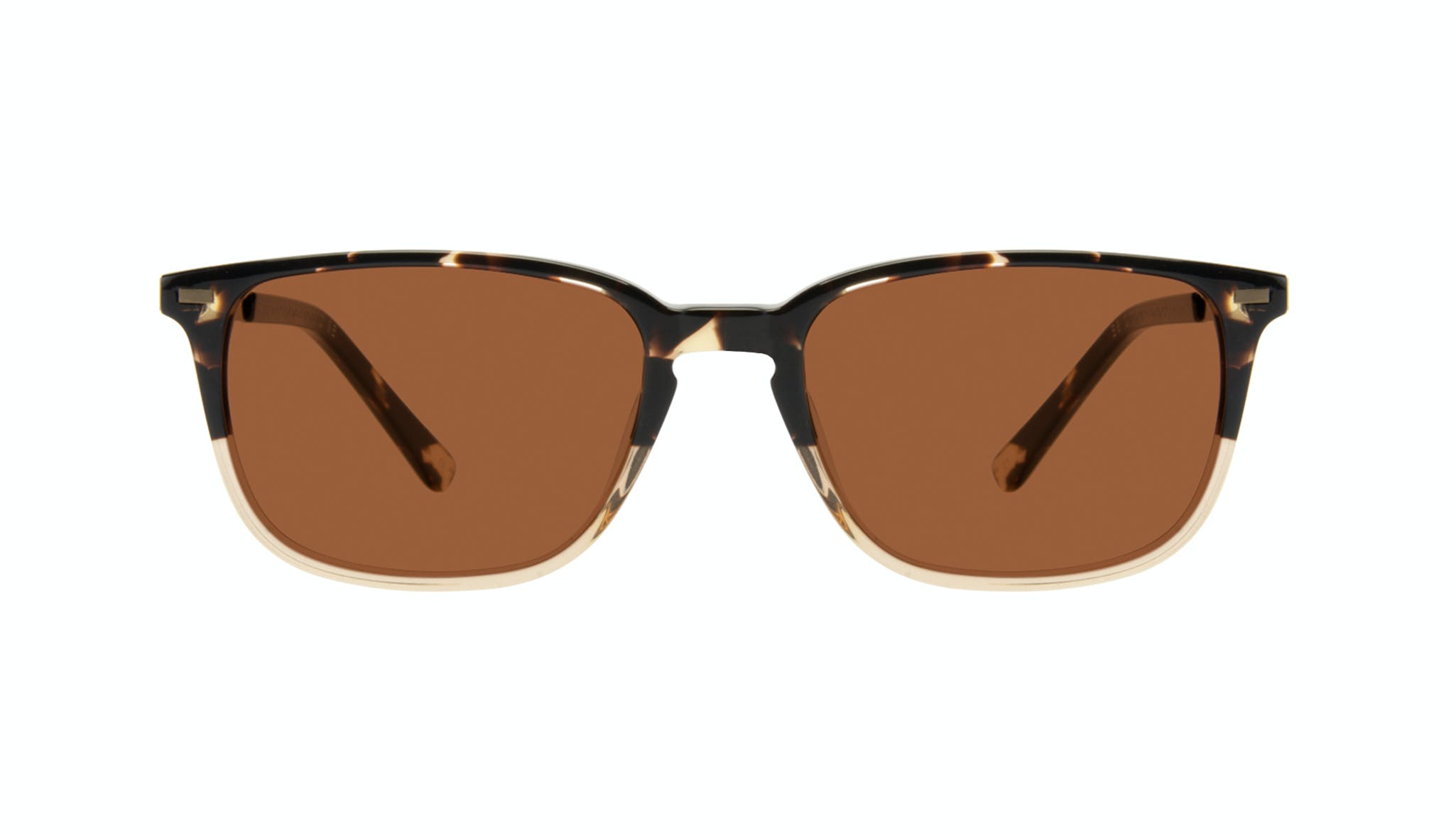Affordable Fashion Glasses Rectangle Sunglasses Men Sharp Golden Tortoise