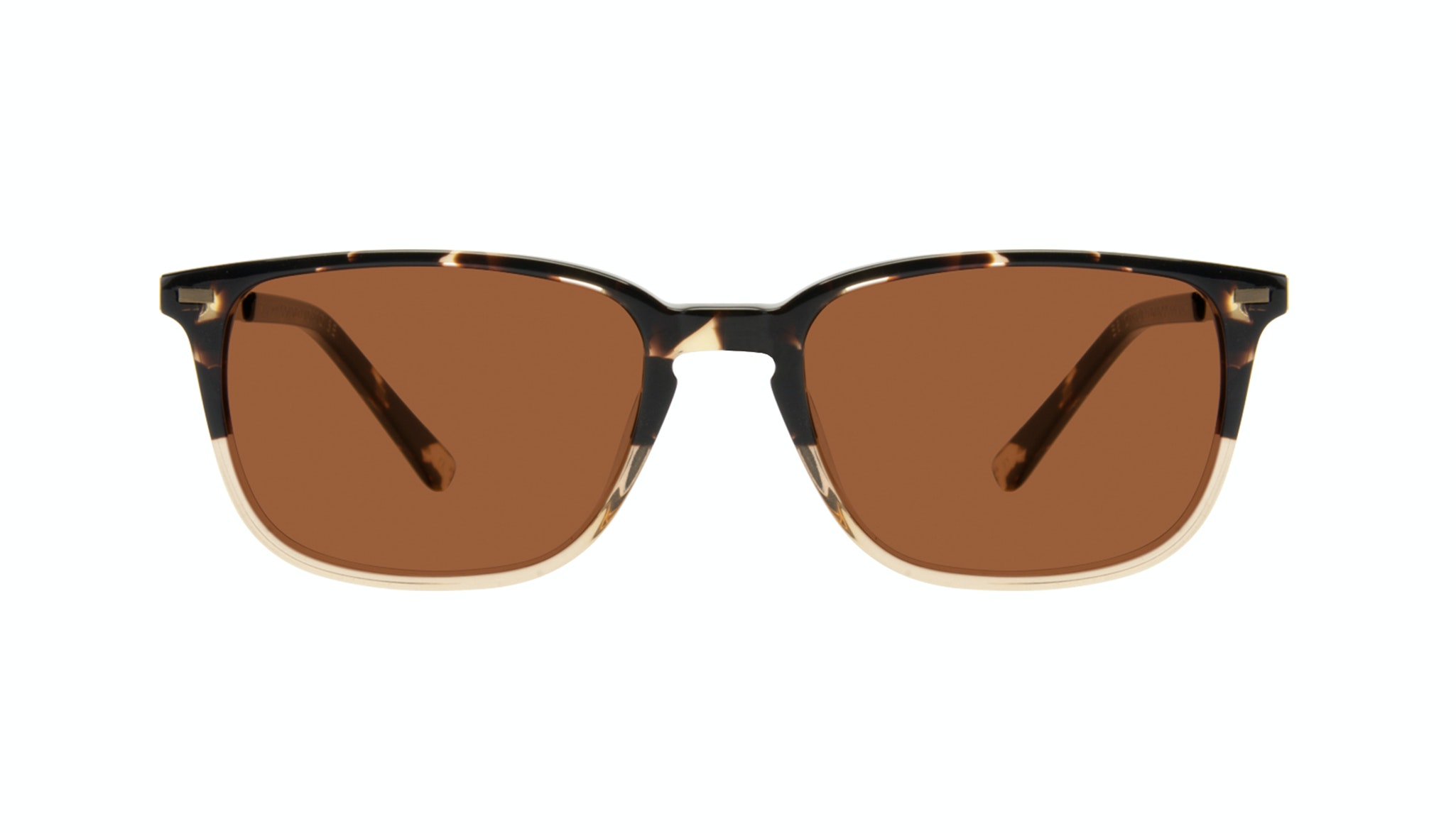 Affordable Fashion Glasses Rectangle Sunglasses Men Sharp Golden Tortoise