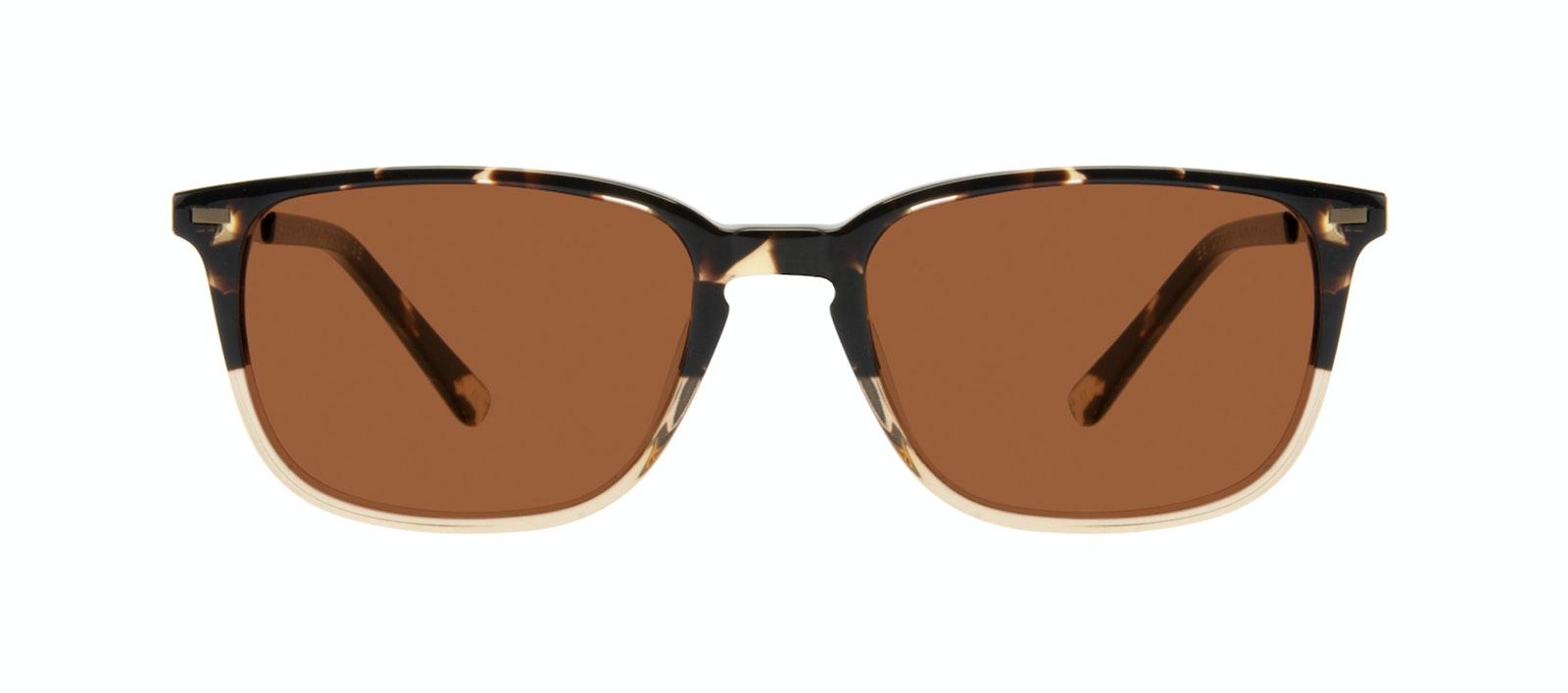 Affordable Fashion Glasses Rectangle Sunglasses Men Sharp Golden Tortoise Front