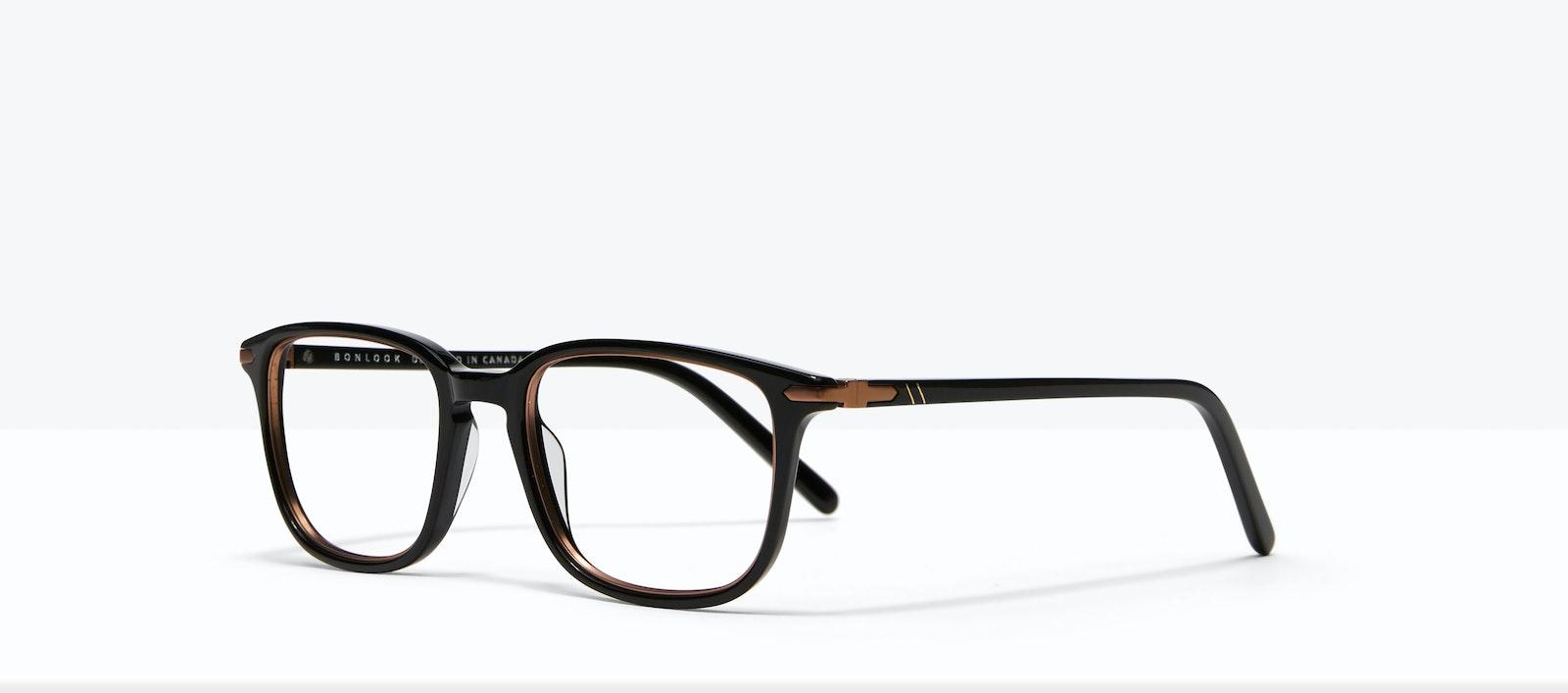 Affordable Fashion Glasses Square Eyeglasses Men Sharp Lux Black Copper Tilt