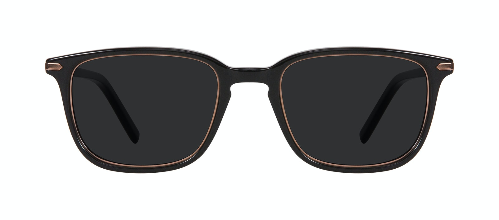 Affordable Fashion Glasses Square Sunglasses Men Sharp Lux Black Copper Front