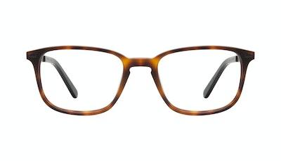 Affordable Fashion Glasses Rectangle Eyeglasses Men Sharp L Matte Tort Front