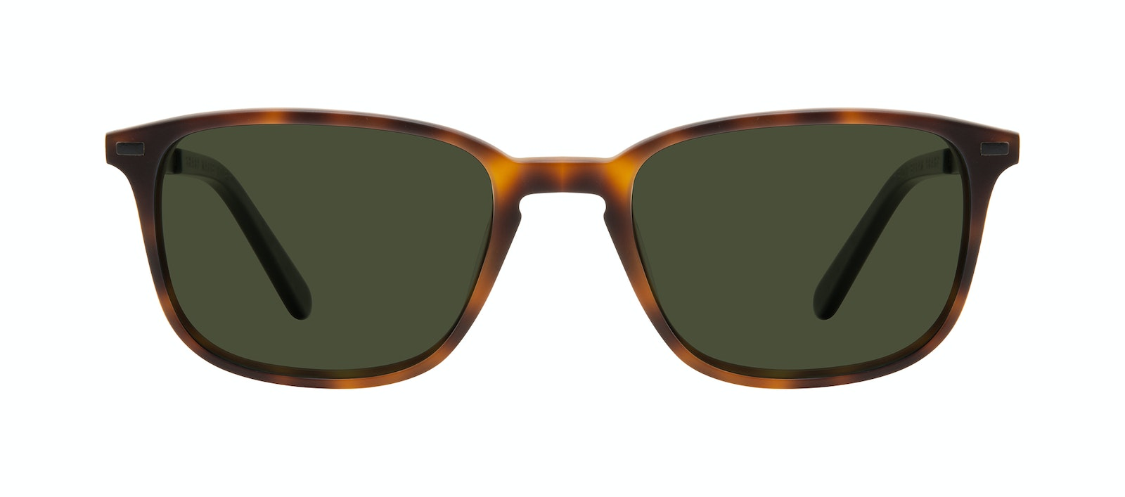 Affordable Fashion Glasses Rectangle Sunglasses Men Sharp Matte Tort Front