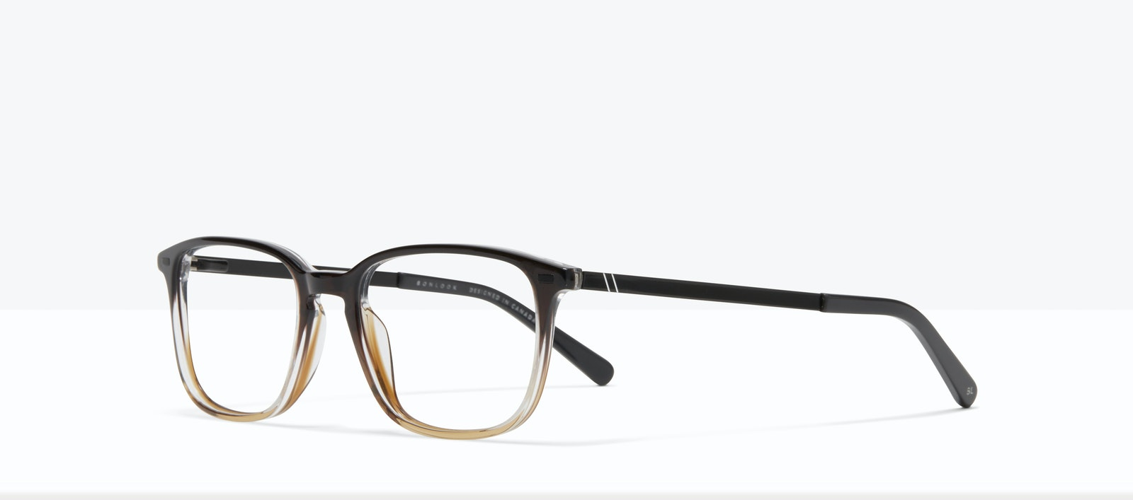 Affordable Fashion Glasses Rectangle Eyeglasses Men Sharp L Mocha Tilt