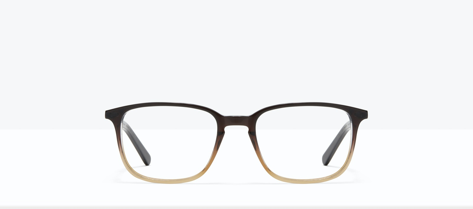 Affordable Fashion Glasses Rectangle Eyeglasses Men Sharp L Mocha Front