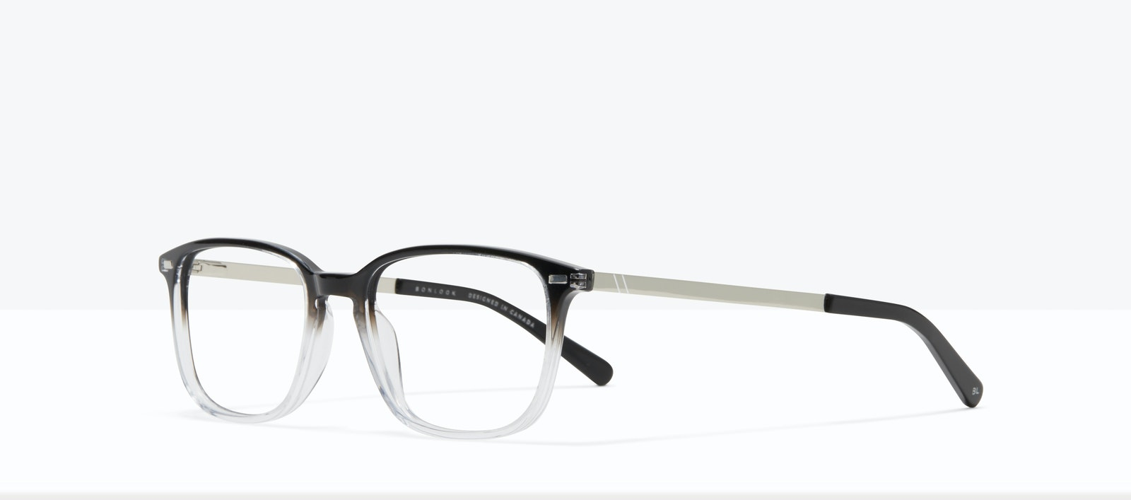 Affordable Fashion Glasses Rectangle Eyeglasses Men Sharp L Onyx Clear Tilt