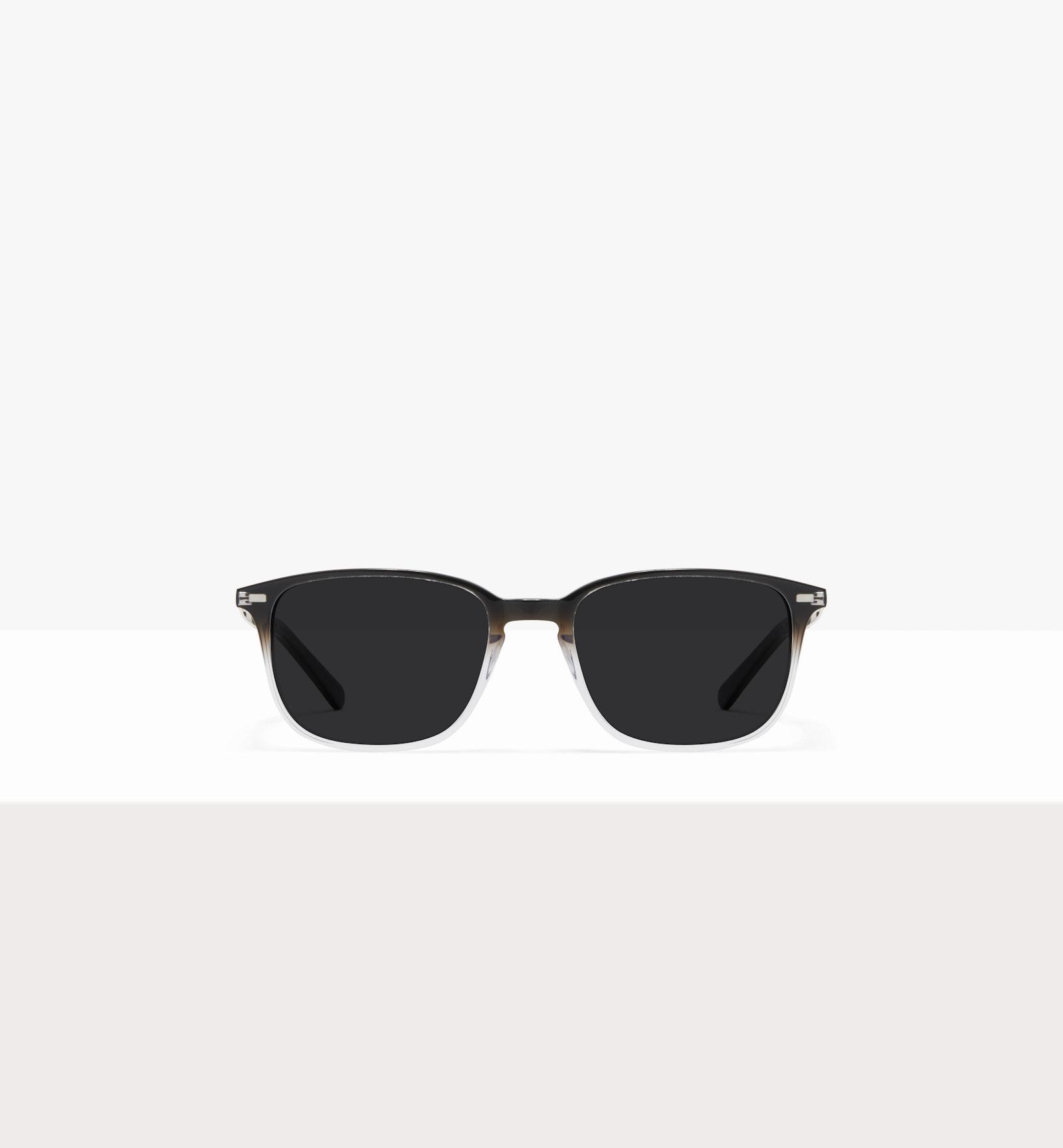 Lunettes tendance Rectangle Lunettes de soleil Hommes Sharp L Onyx Clear