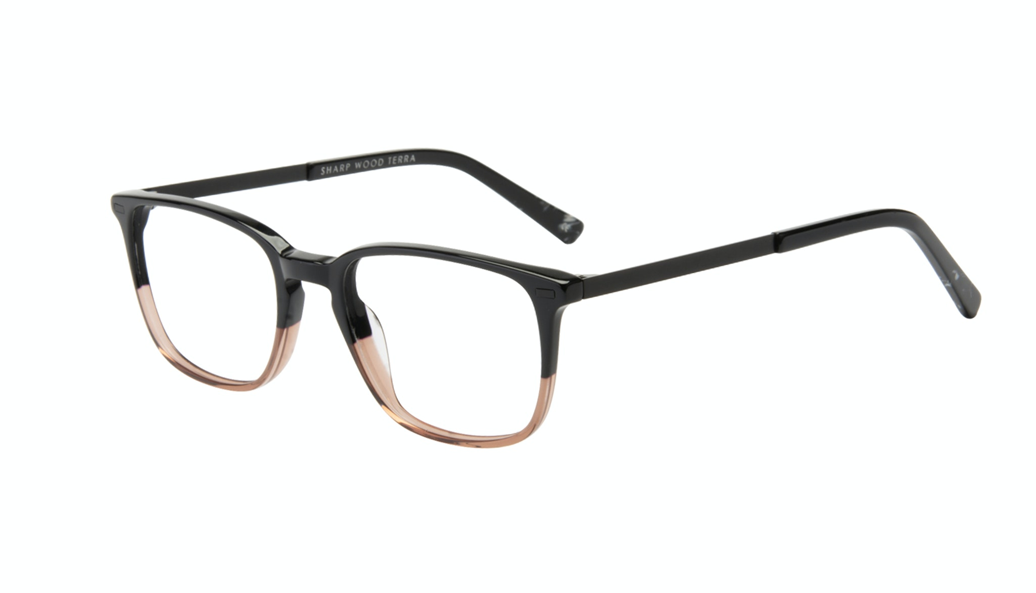 Affordable Fashion Glasses Rectangle Eyeglasses Men Sharp Wood Terra Tilt