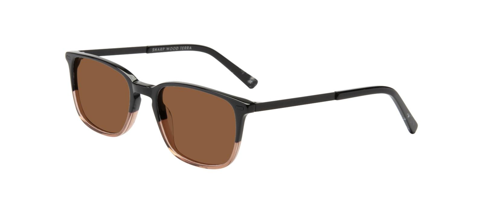 Affordable Fashion Glasses Rectangle Sunglasses Men Sharp Wood Terra Tilt