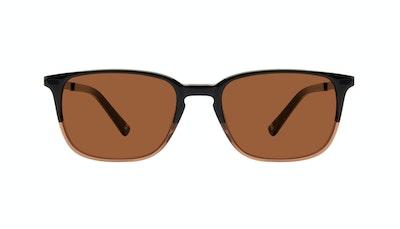 Affordable Fashion Glasses Rectangle Sunglasses Men Sharp Wood Terra Front