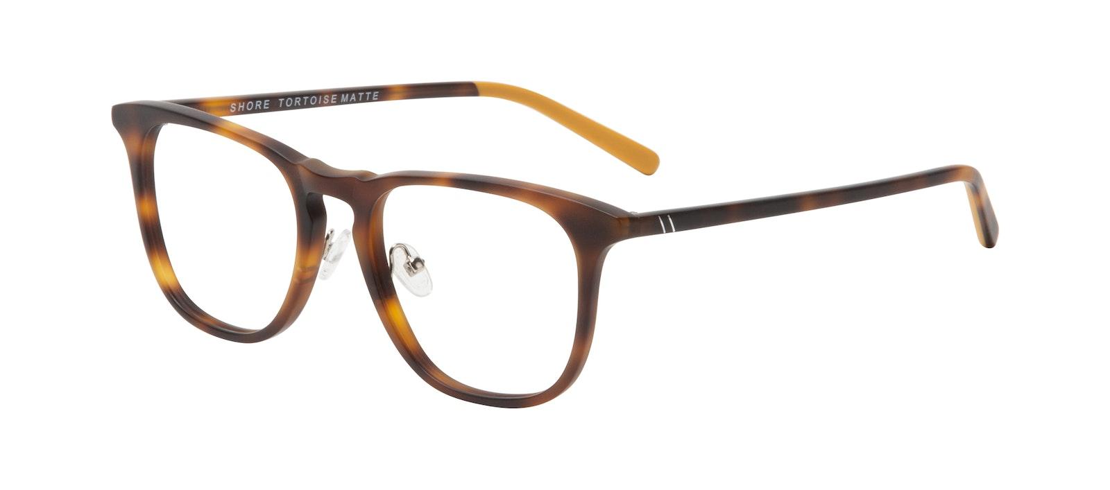Affordable Fashion Glasses Square Eyeglasses Men Shore Tortoise Matte Tilt