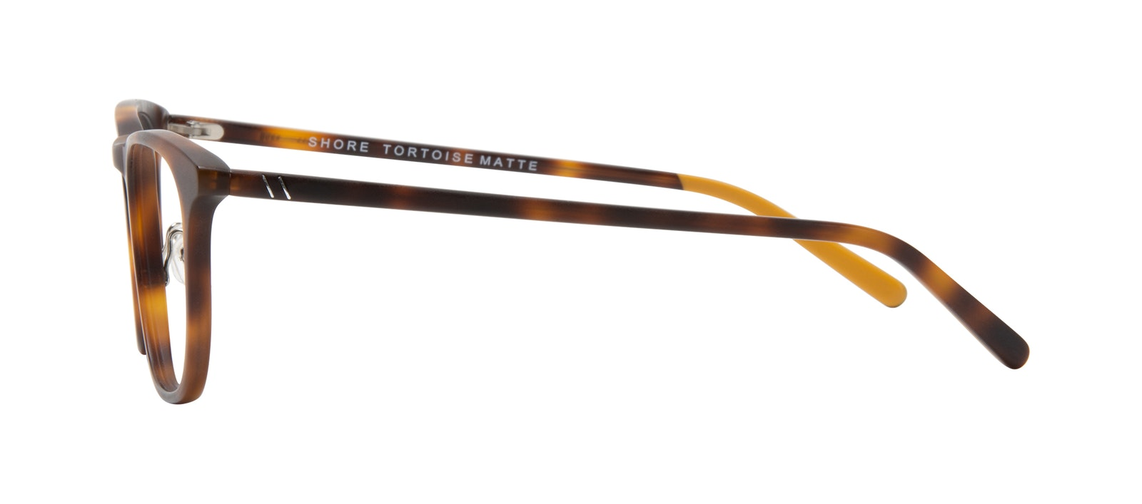 Affordable Fashion Glasses Square Eyeglasses Men Shore Tortoise Matte Side