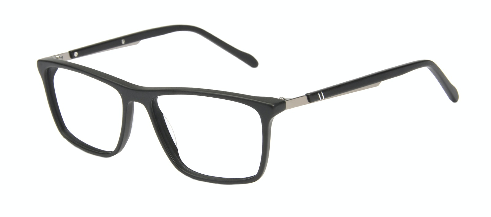 Affordable Fashion Glasses Rectangle Eyeglasses Men Skill Matte Black Tilt