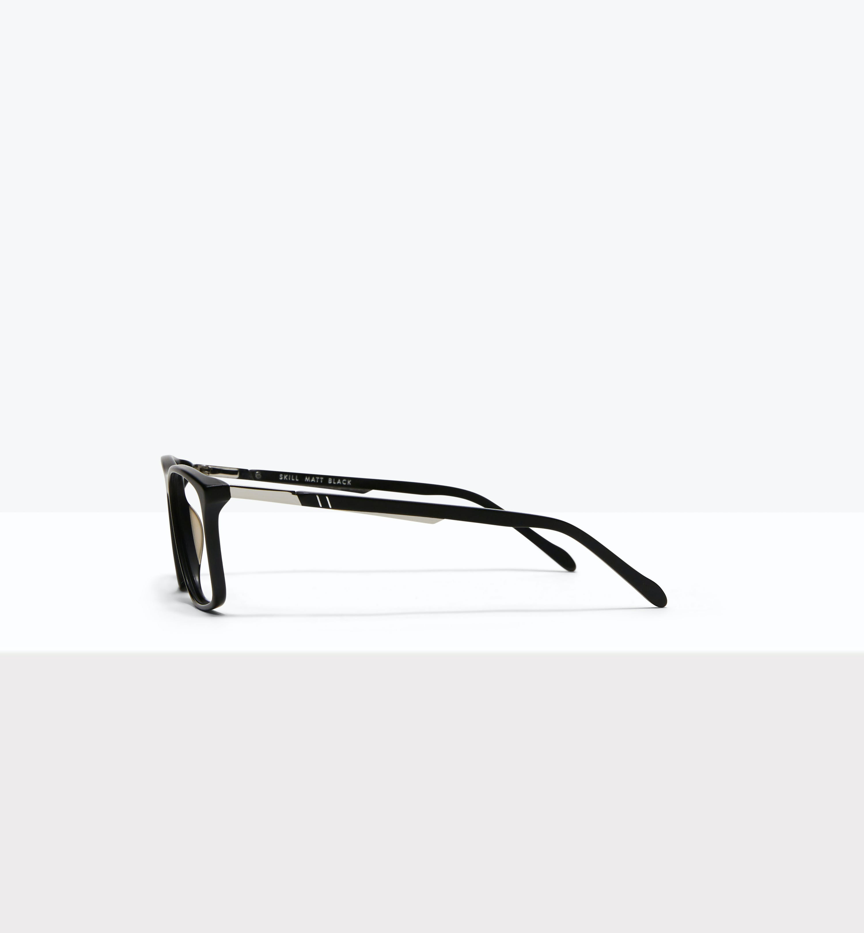 Affordable Fashion Glasses Rectangle Eyeglasses Men Skill Matt Black Side