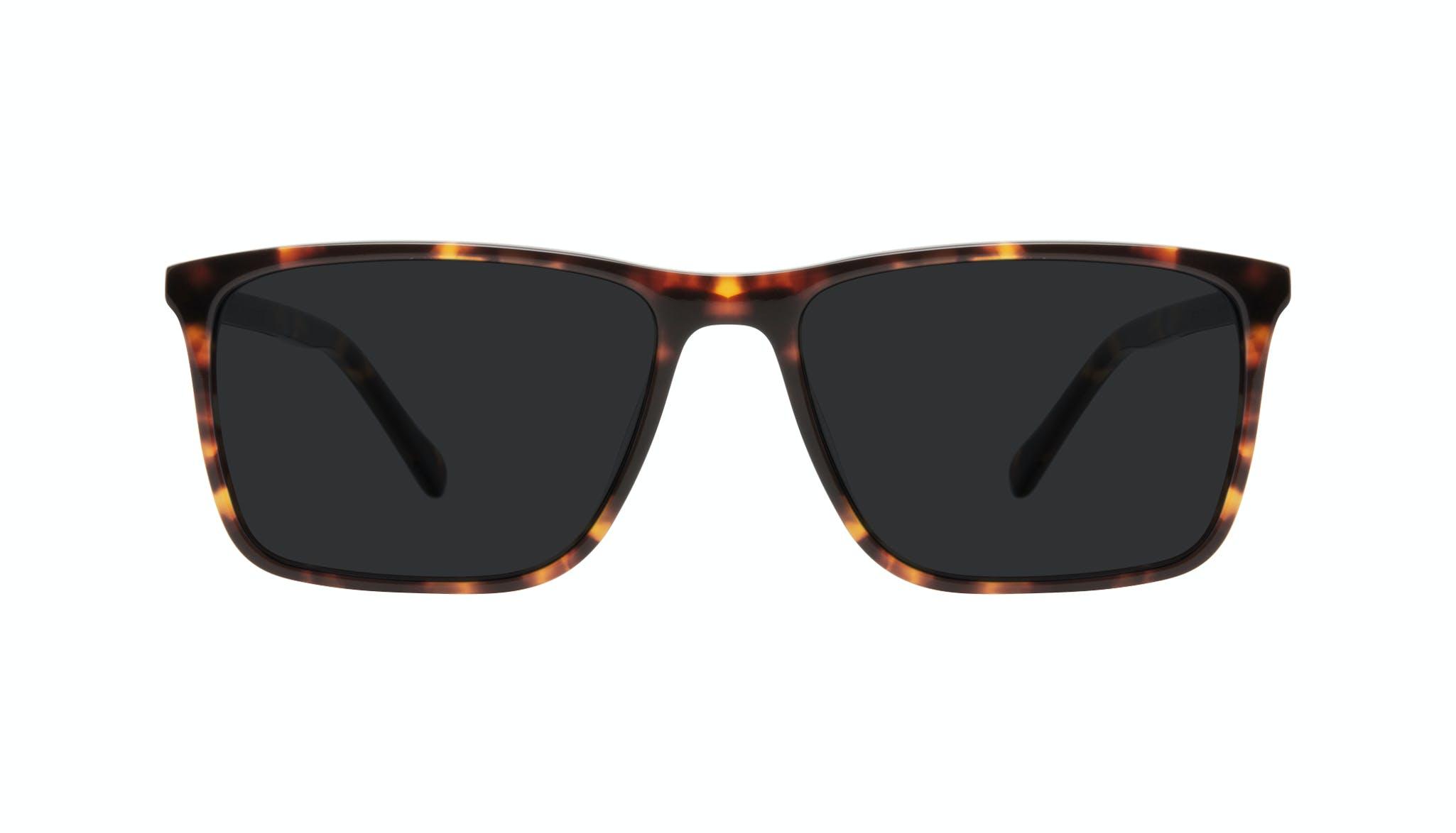 Affordable Fashion Glasses Rectangle Sunglasses Men Skill Tortoise Front