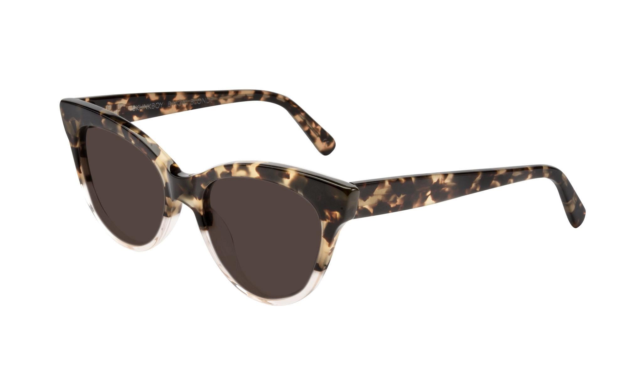 Affordable Fashion Glasses Cat Eye Sunglasses Women SkunkBoy Champagne Tort Tilt