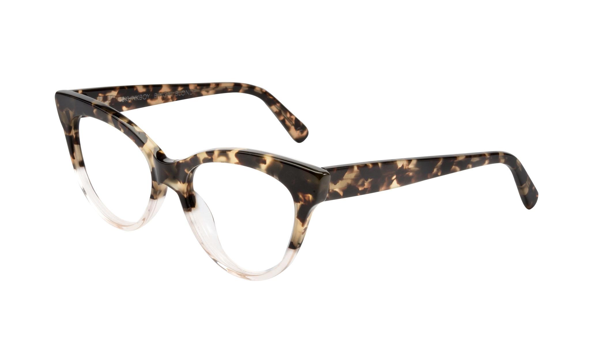 Affordable Fashion Glasses Cat Eye Eyeglasses Women SkunkBoy Champagne Tort Tilt