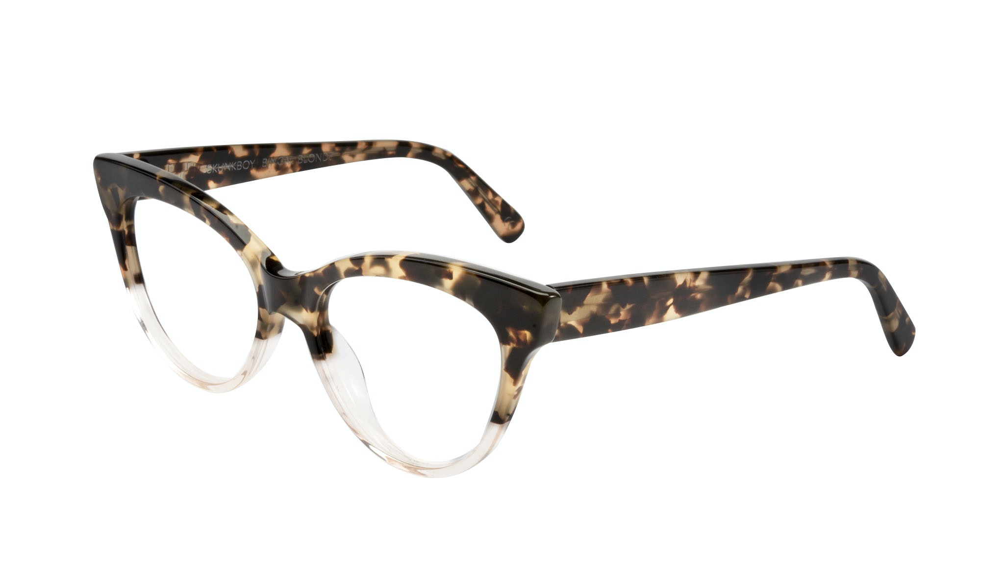 Affordable Fashion Glasses Cat Eye Daring Cateye Eyeglasses Women SkunkBoy Champagne Tort Tilt