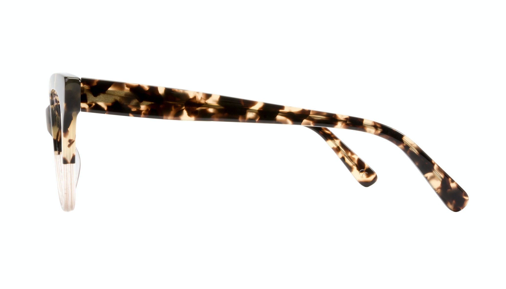 Affordable Fashion Glasses Cat Eye Eyeglasses Women SkunkBoy Champagne Tort Side
