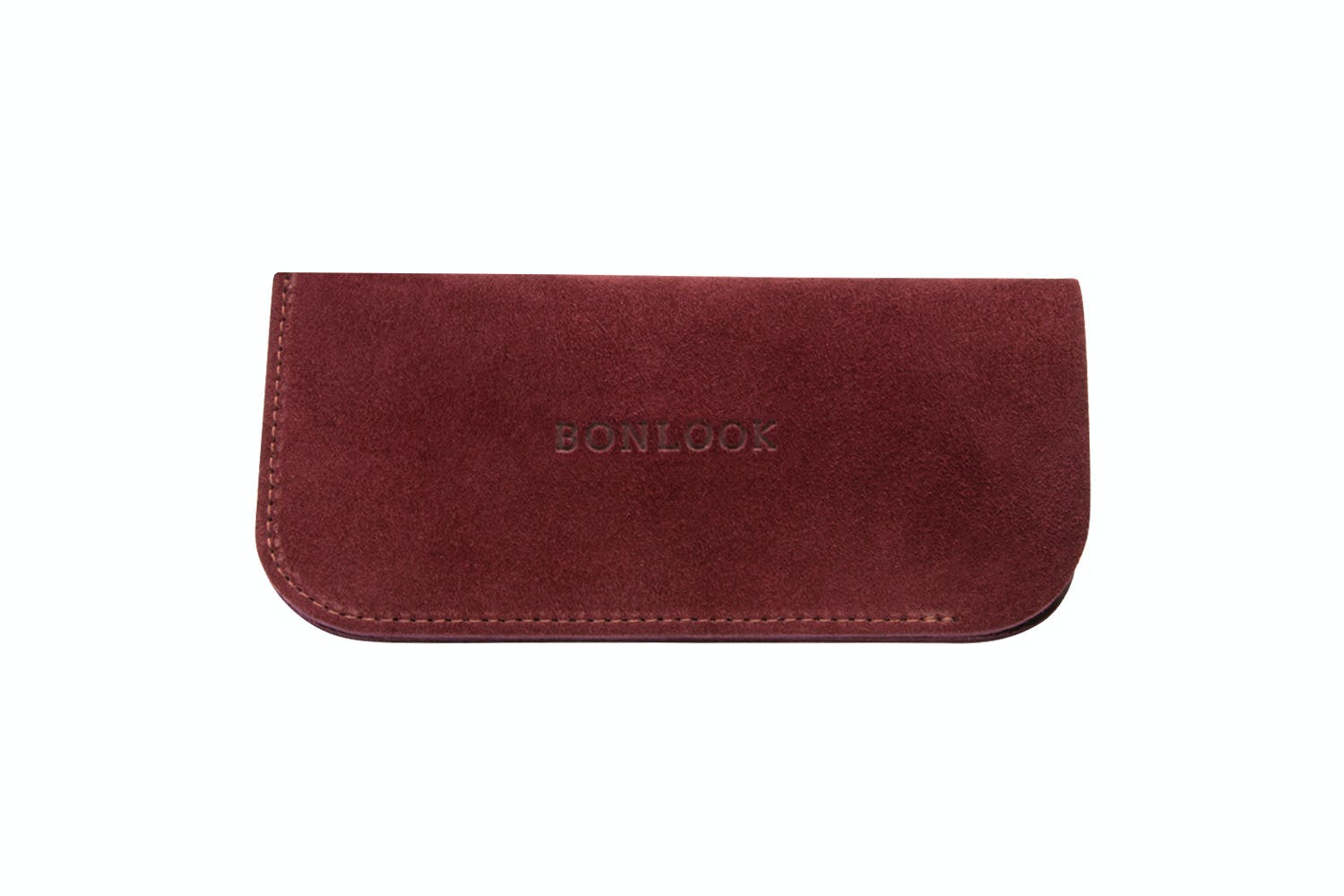 Affordable Fashion Glasses Accessory Men Women Sleeve Case  Burgundy Suede