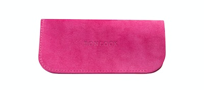 Affordable Fashion Glasses Accessory Women Sleeve Case  Fuchsia Suede Front