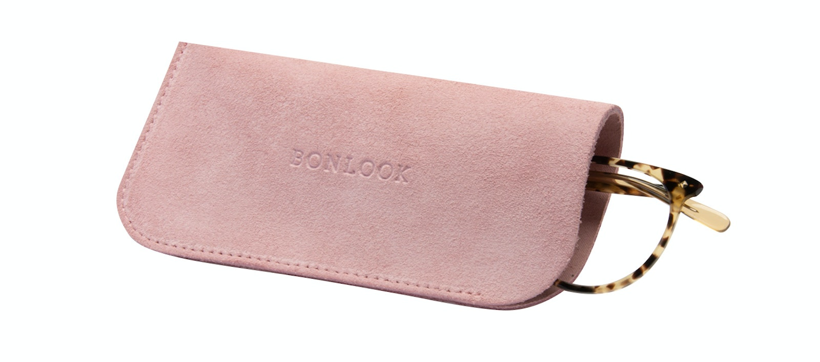 Affordable Fashion Glasses Accessory Men Women Sleeve Case  Pink Suede Tilt