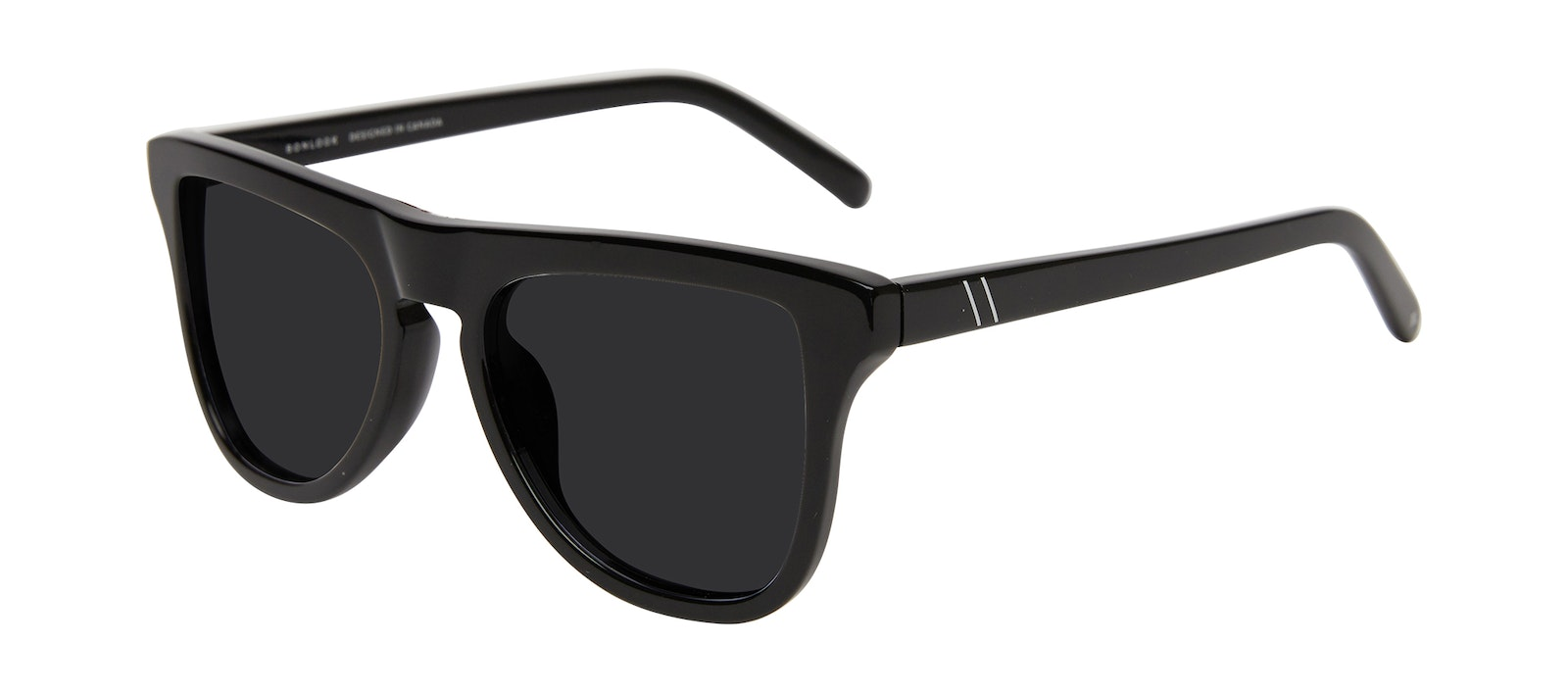 Affordable Fashion Glasses Square Sunglasses Men Social Black Tilt