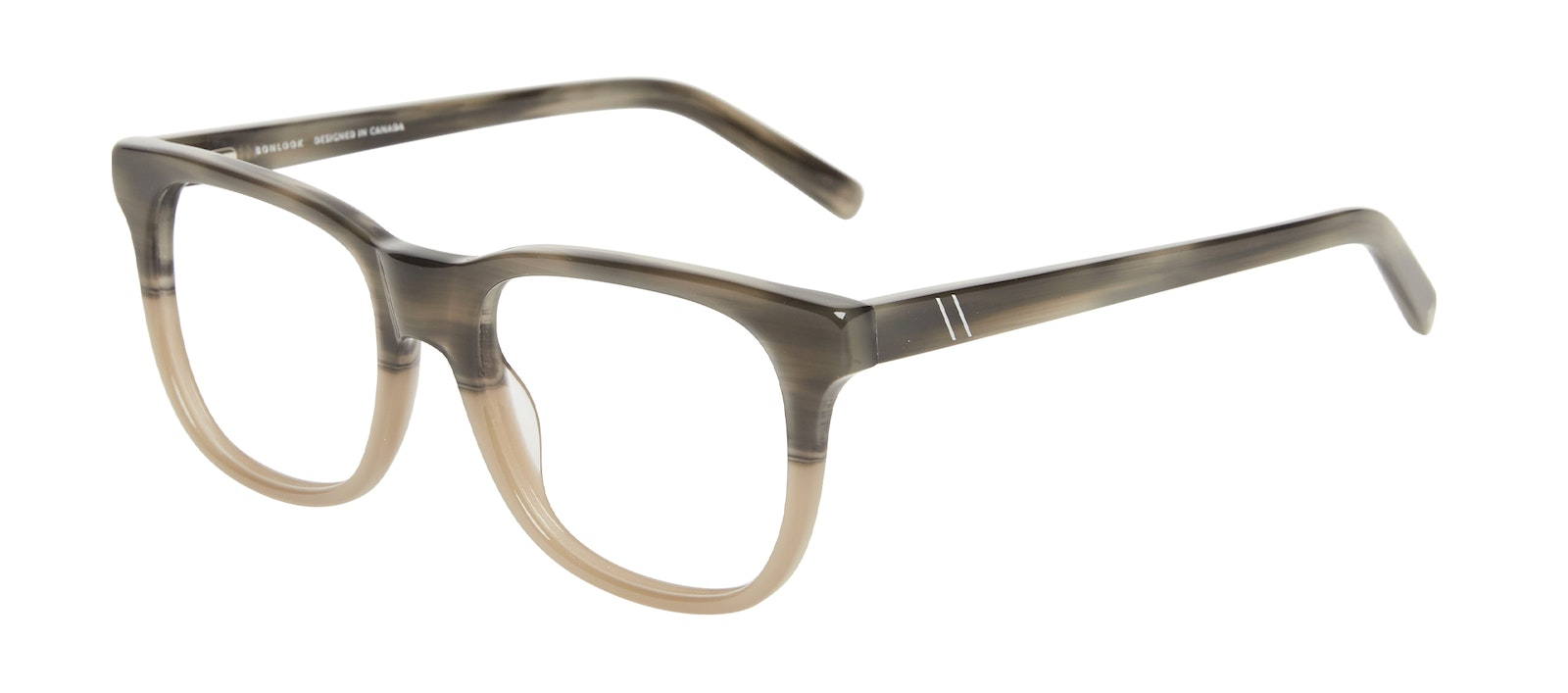 Affordable Fashion Glasses Square Eyeglasses Men Solo Two Tone Stone Tilt