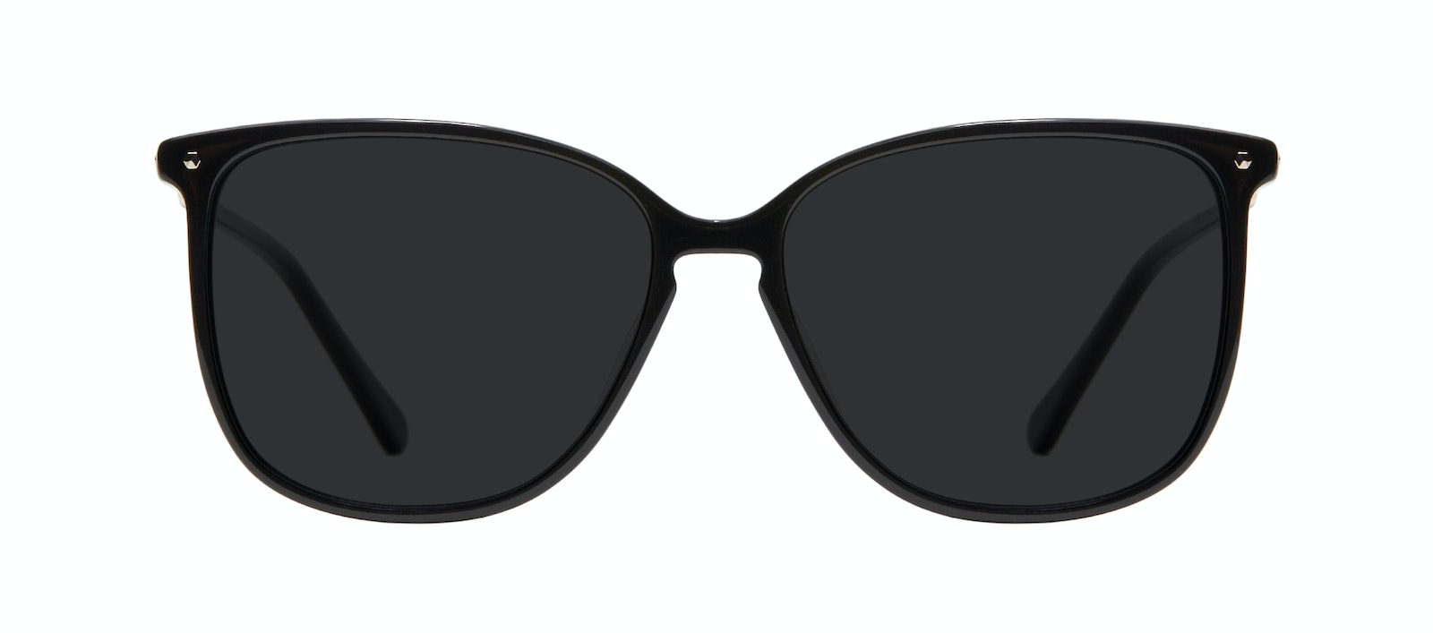 Affordable Fashion Glasses Square Sunglasses Women Sonia Pitch Black Front