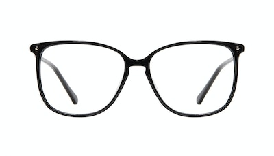 Affordable Fashion Glasses Square Eyeglasses Women Sonia Pitch Black Front
