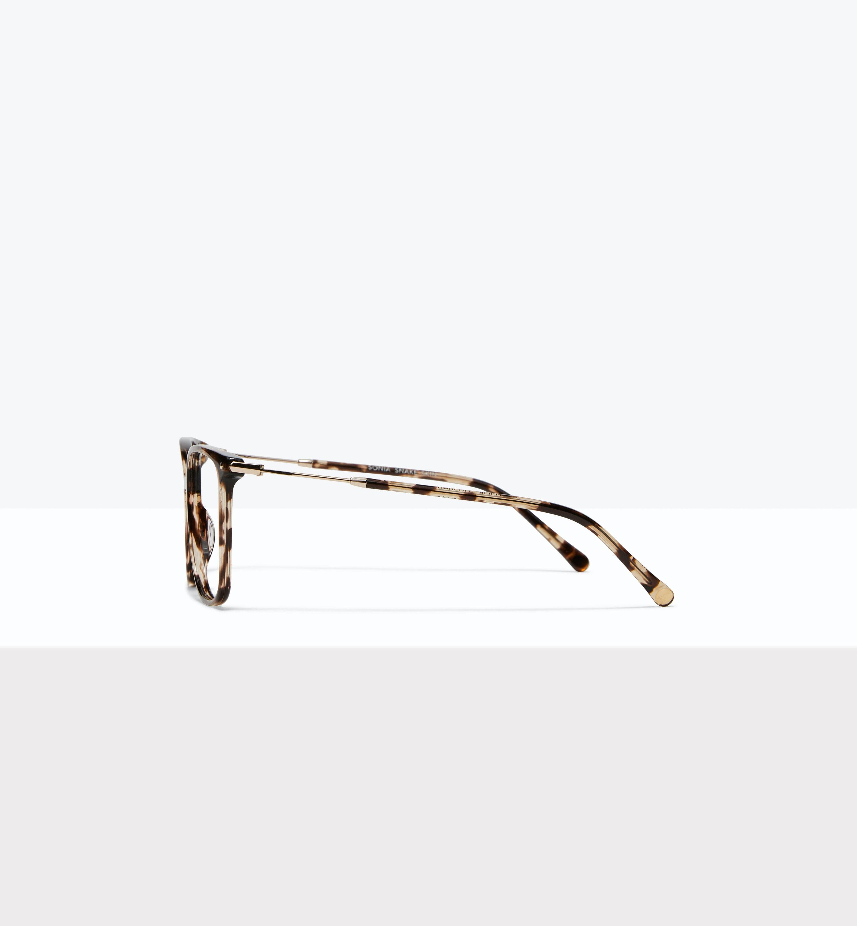 Lunettes tendance Carrée Lunettes de vue Femmes Sonia Snake Skin Profil