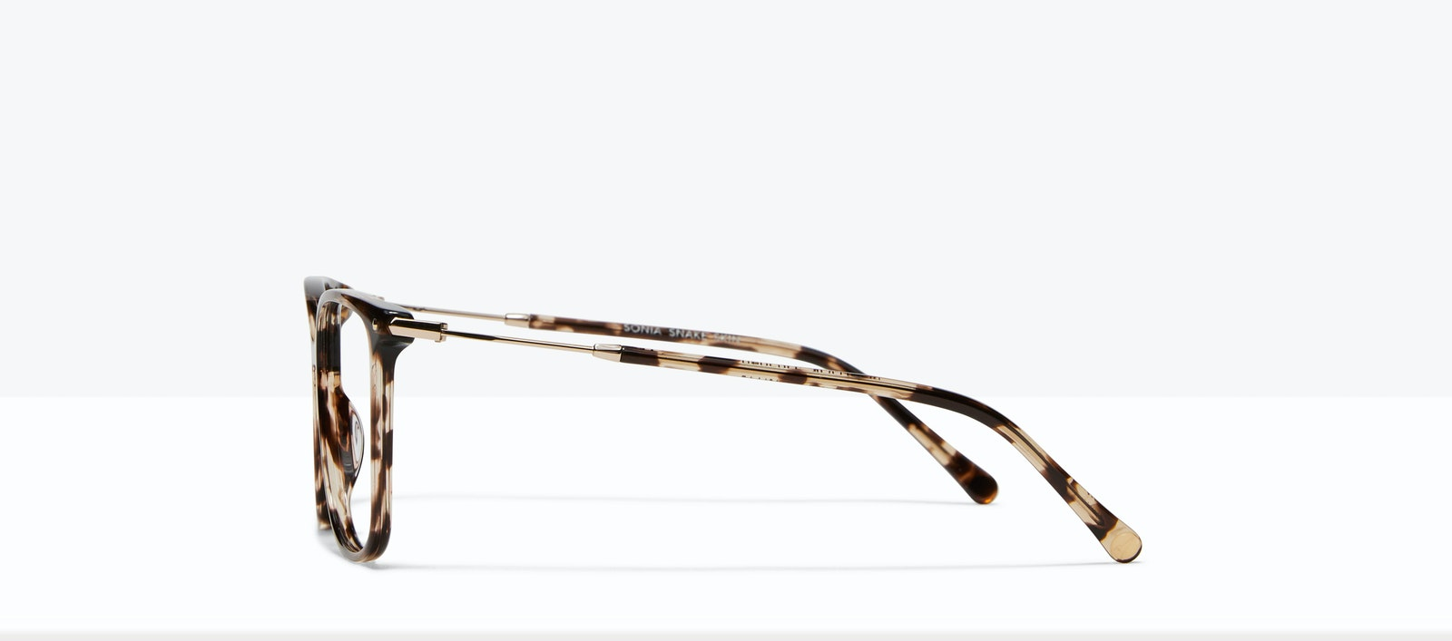 Affordable Fashion Glasses Square Eyeglasses Women Sonia Snake Skin Side