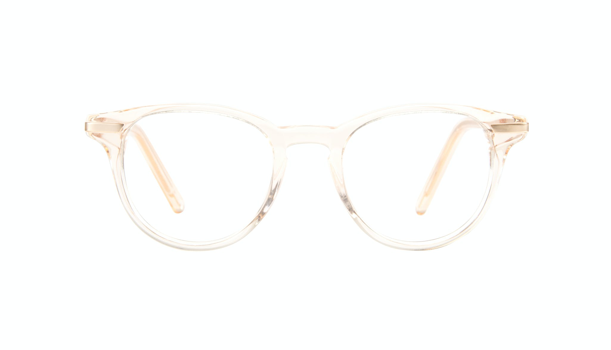 Affordable Fashion Glasses Round Eyeglasses Women Spark Blond Front