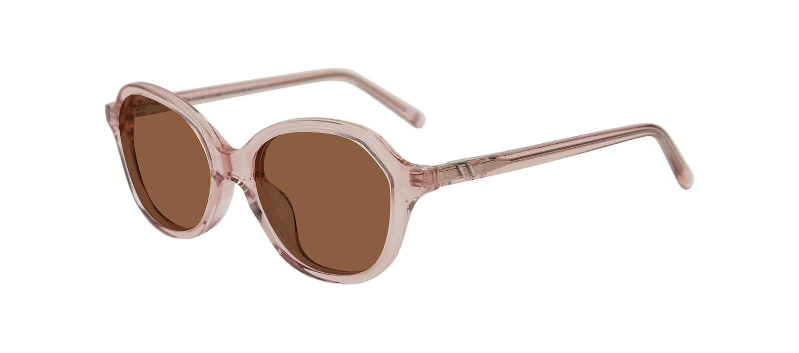 Affordable Fashion Glasses Square Sunglasses Kids Stage Junior Pink Tilt