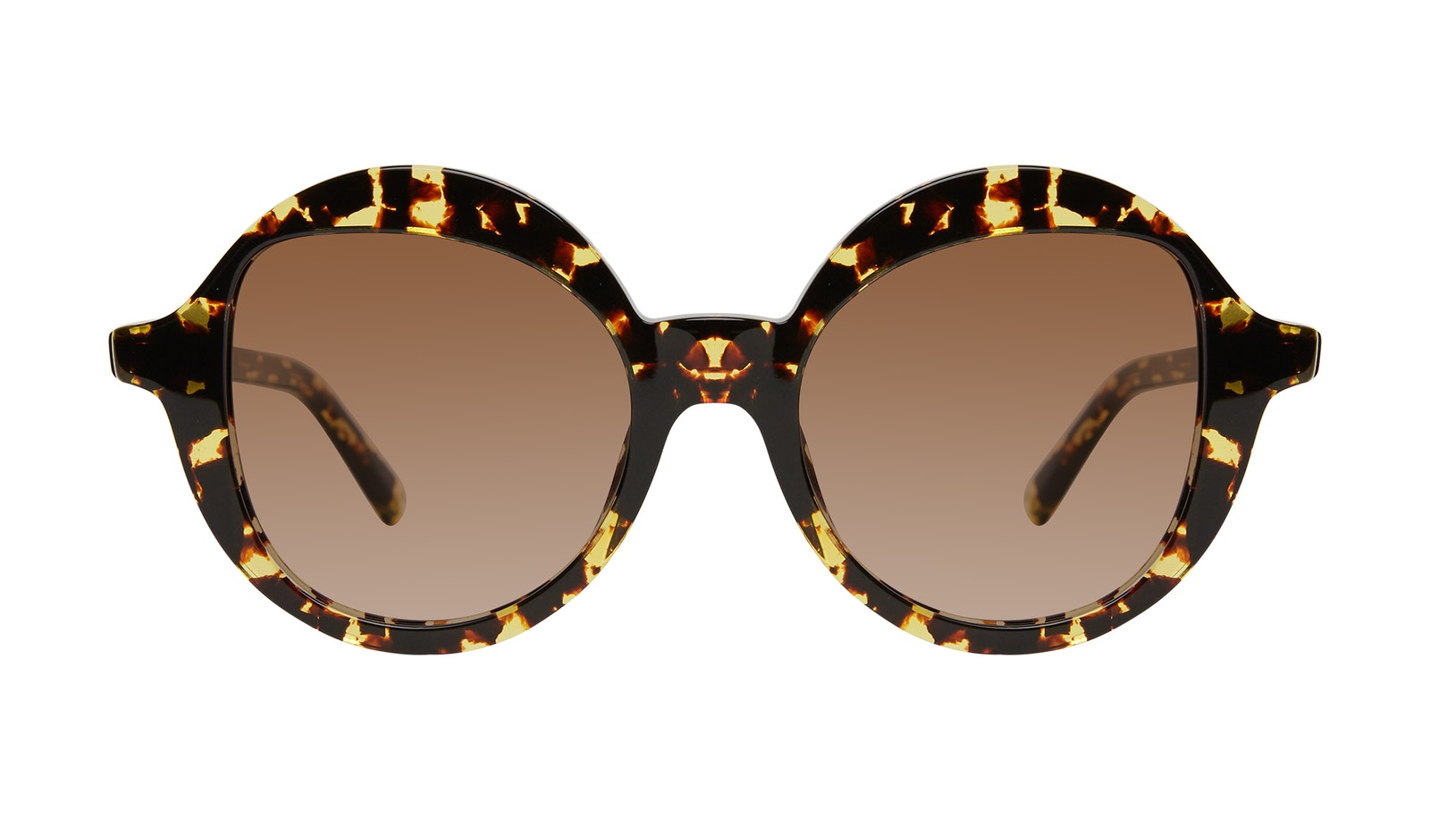 Affordable Fashion Glasses Round Sunglasses Women Stardom Gold Flake