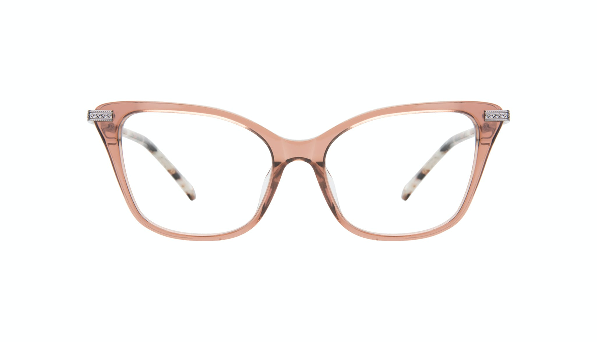 Affordable Fashion Glasses Cat Eye Eyeglasses Women Stargaze Truffle Rose Front