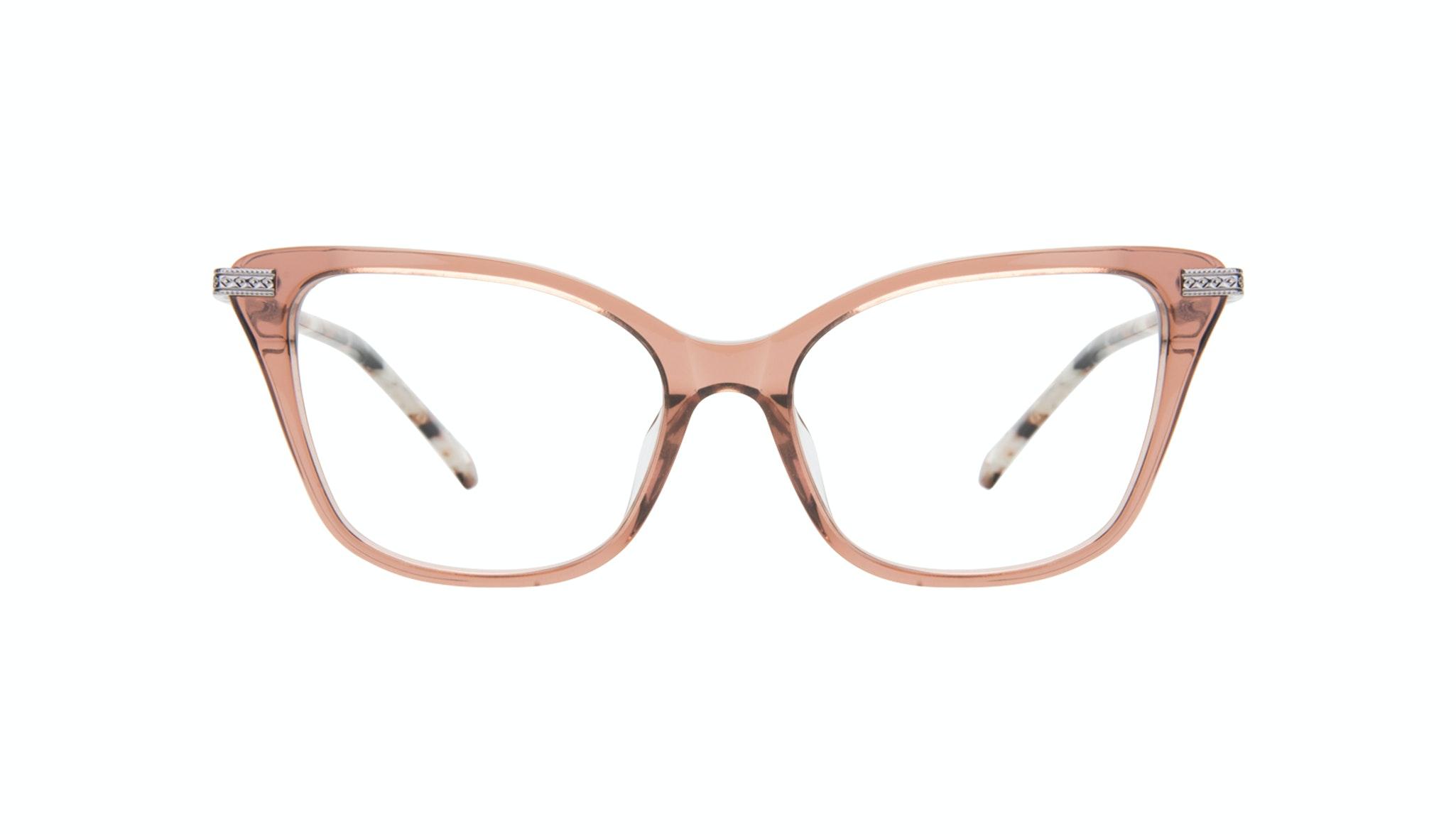 Affordable Fashion Glasses Cat Eye Eyeglasses Women Stargaze Truffle Rose Front