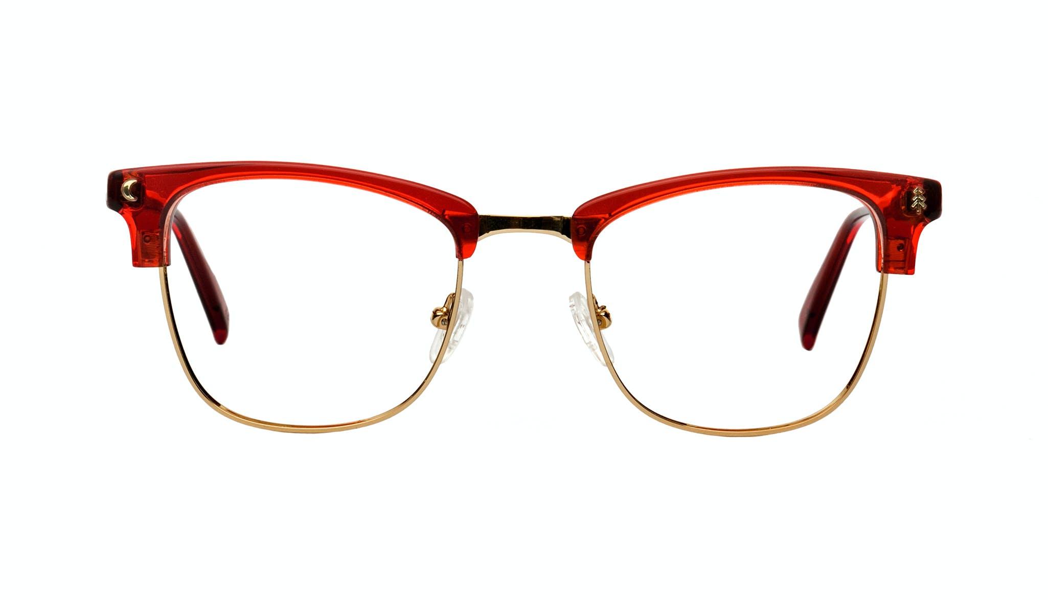 Affordable Fashion Glasses Rectangle Square Eyeglasses Women Stargazer Kindled Red Front