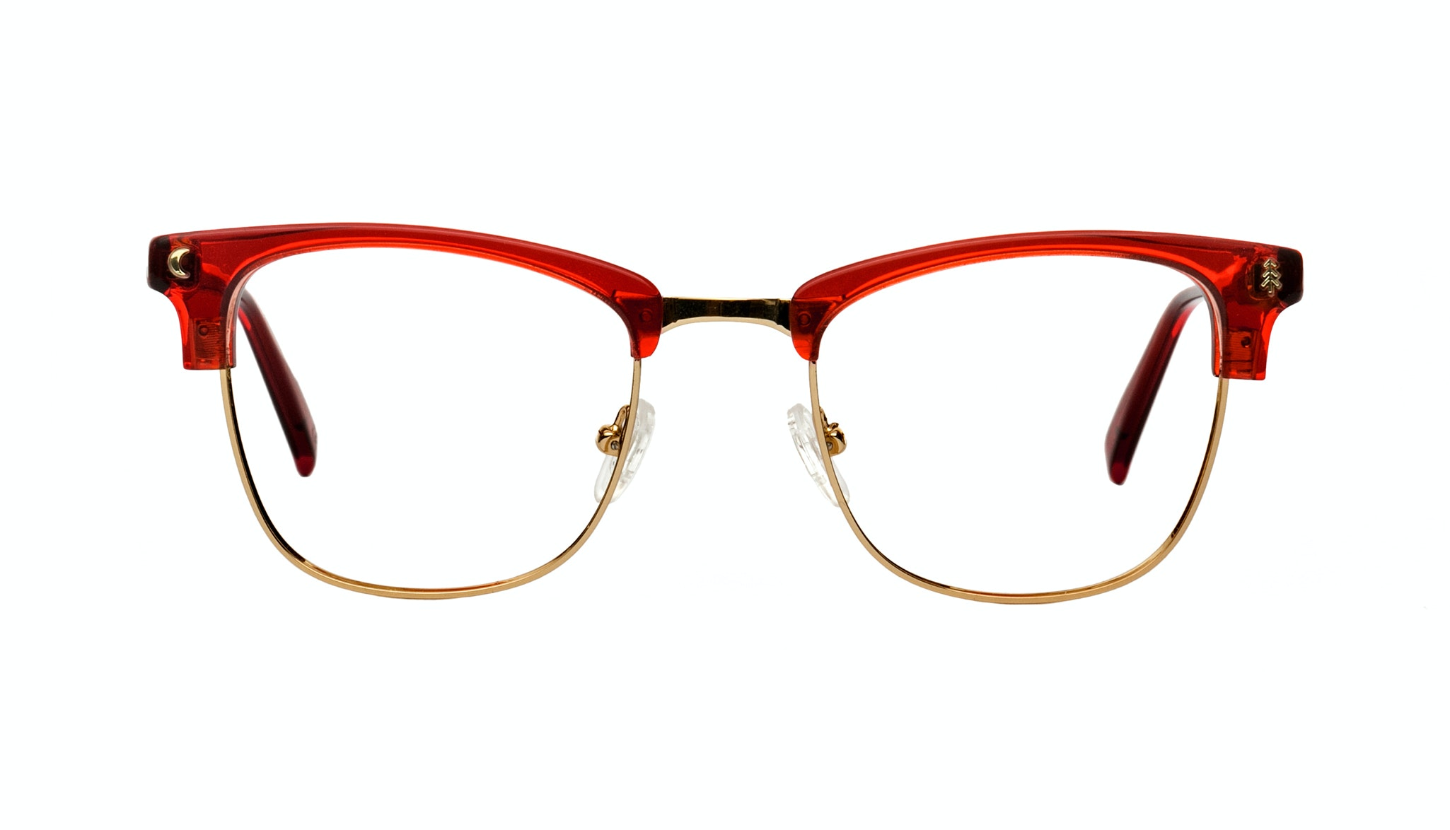 Affordable Fashion Glasses Rectangle Eyeglasses Women Stargazer Kindled Red Front