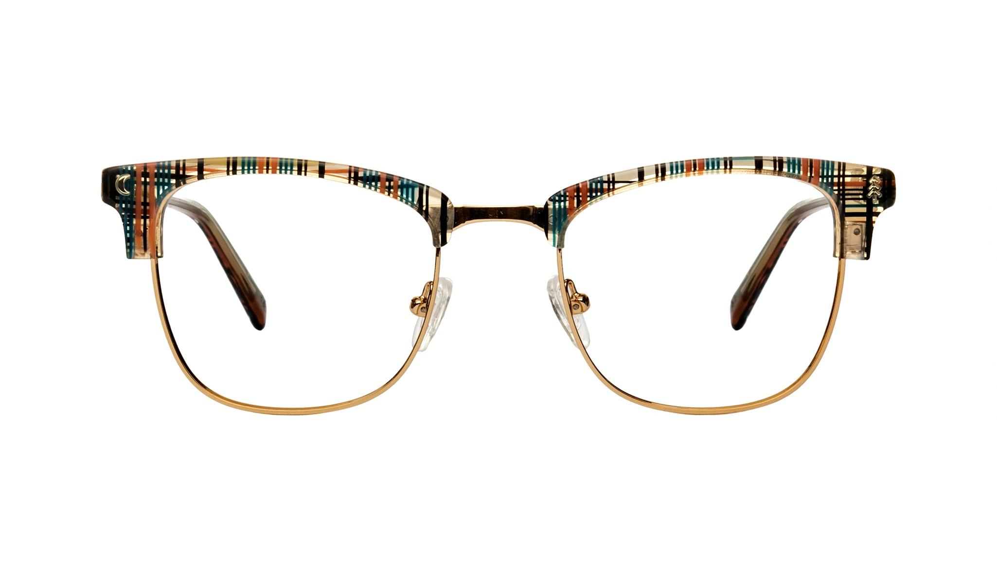 Affordable Fashion Glasses Rectangle Eyeglasses Women Stargazer Woodland Plaid Front