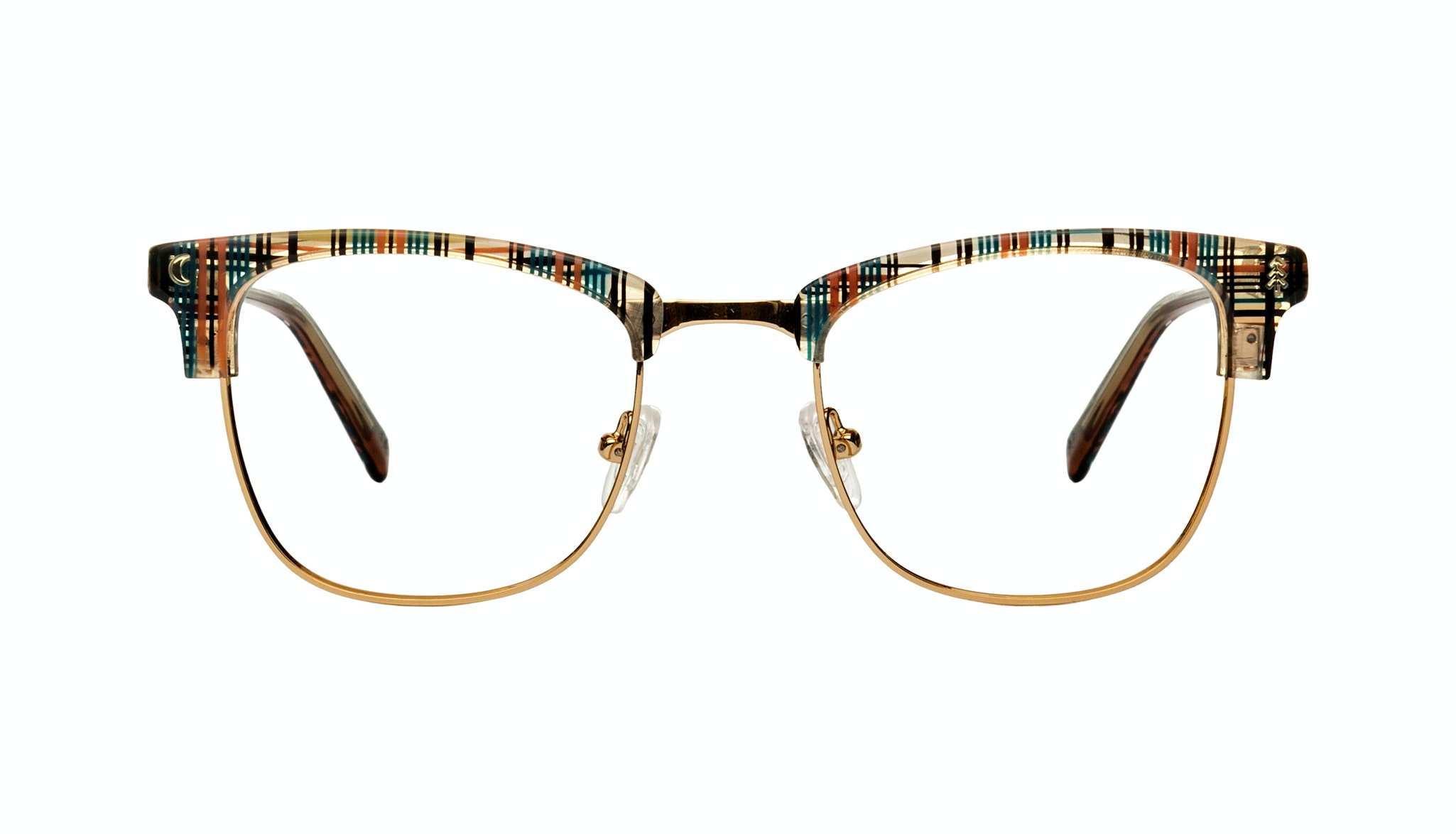 Affordable Fashion Glasses Rectangle Eyeglasses Women Stargazer Woodland Plaid