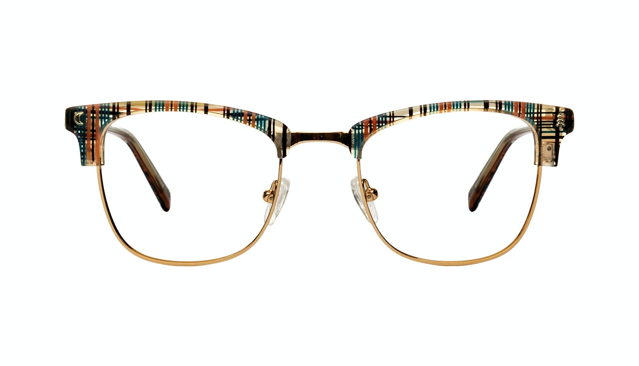 Affordable Fashion Glasses Rectangle Square Eyeglasses Women Stargazer Woodland Plaid Front